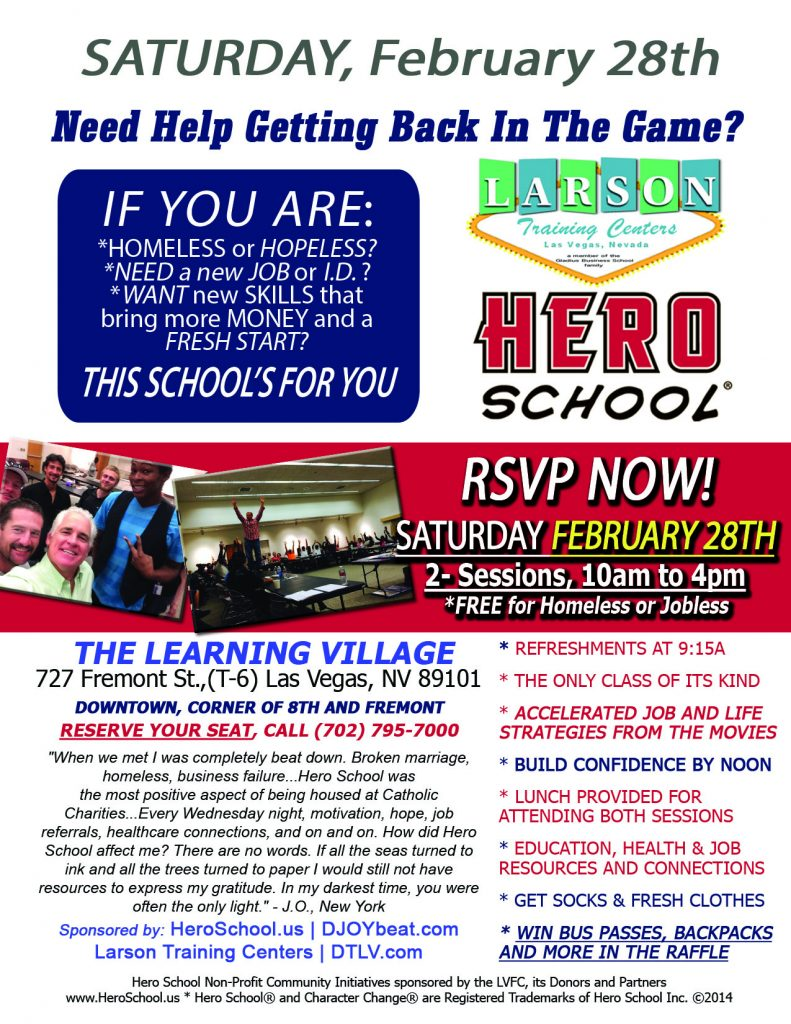 Hero School Flyer 2-28-15