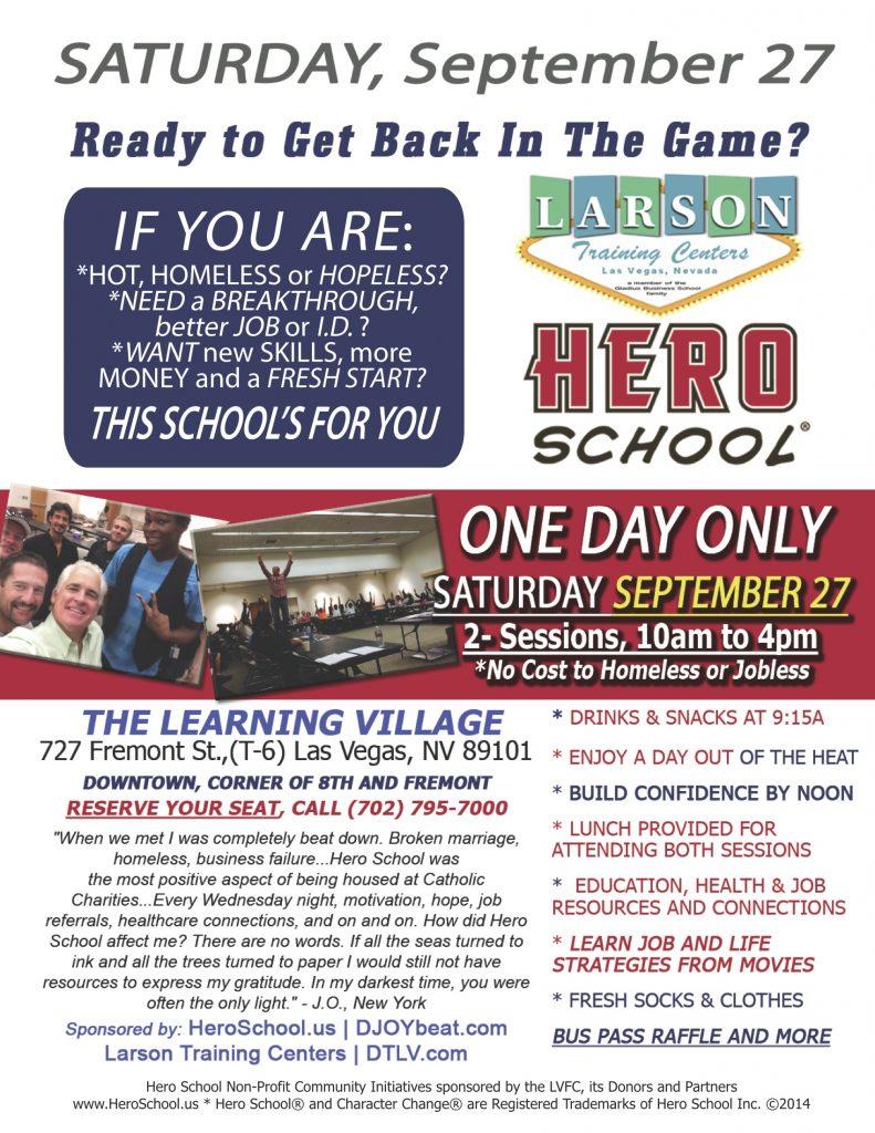 September Flyer Larson Hero School®