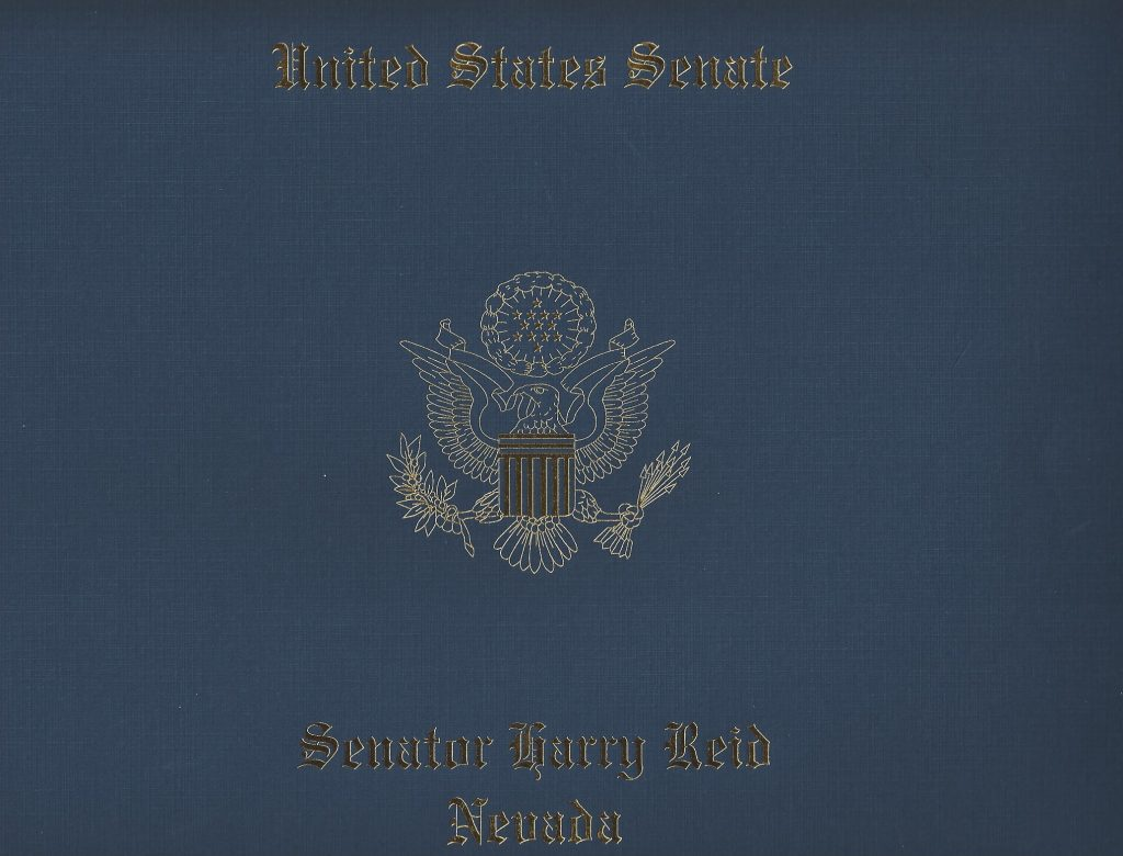 AWARD US Senate Reid Tiger Todd Cover